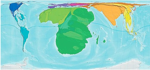 World Map by HIV Prevalence