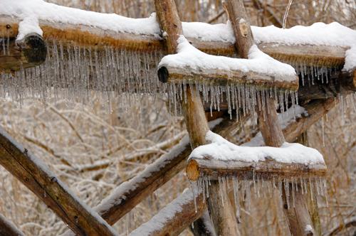 Lumière d'hiver sur le radeau Vaillancourt